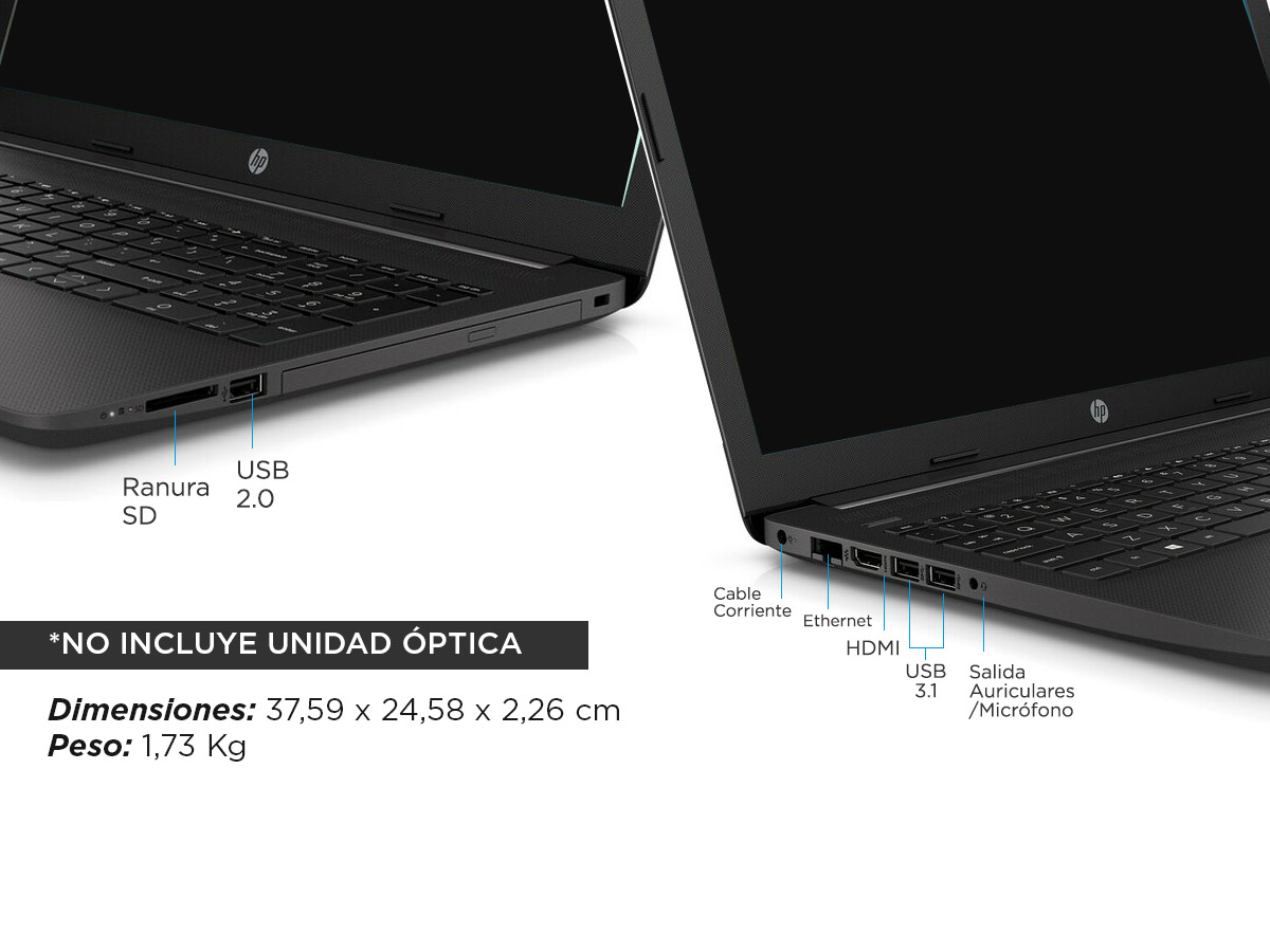 """Notebook Hp 255 G7 AMD A9 Ram 8gb Hdd 1tb 15,6"""" HD"""