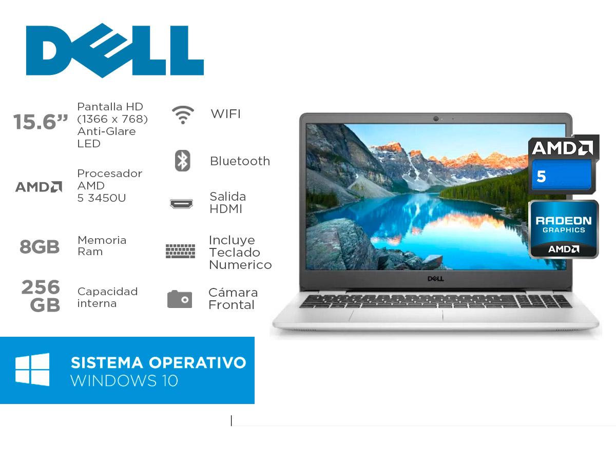 Notebook Dell Inspiron 3505 Amd Ryzen 5 Ram 8gb Ssd 256gb 15,6 Pulg Win 10