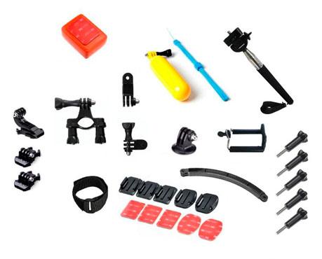 Kit GoPro Soportes, Adaptadores, Flotador y más se entrega con estos accesorios