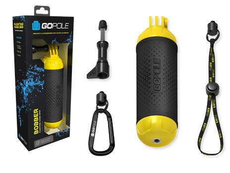 Flotador Bobber Gopole para cámaras GoPro se entrega con estos accesorios
