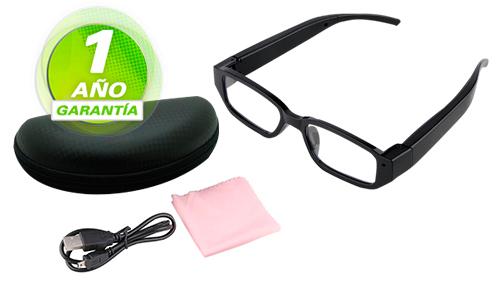 Anteojos Espia Con Camara Oculta Full HD se entrega con estos accesorios