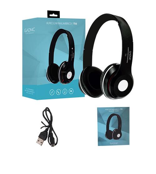 Auriculares Bluetooth Gadnic T11 se entrega con estos accesorios