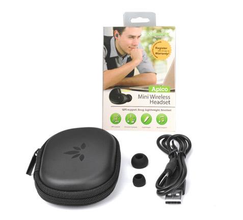 Auricular Bluetooth Avantree Apico se entrega con estos accesorios
