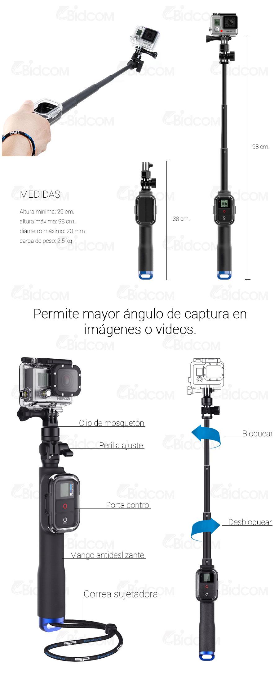 Bastón para GoPro Extensible Remote