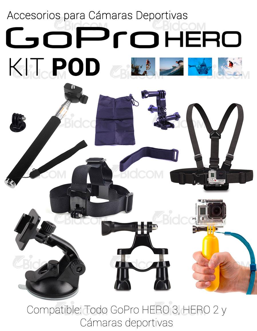 Kit POD soportes para GoPro