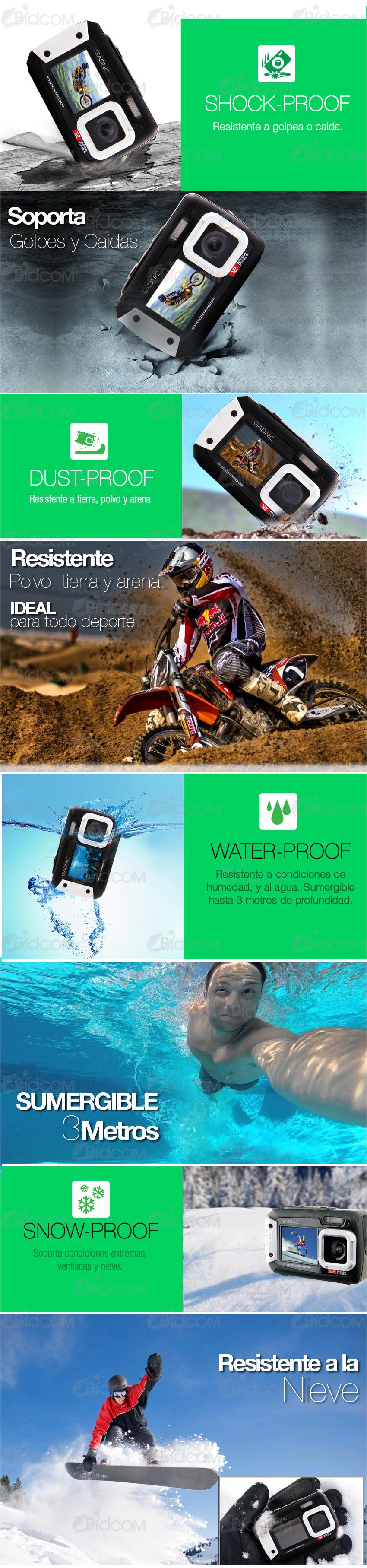 Cámara Gadnic Waterproof / Shockproof 12 Mpx