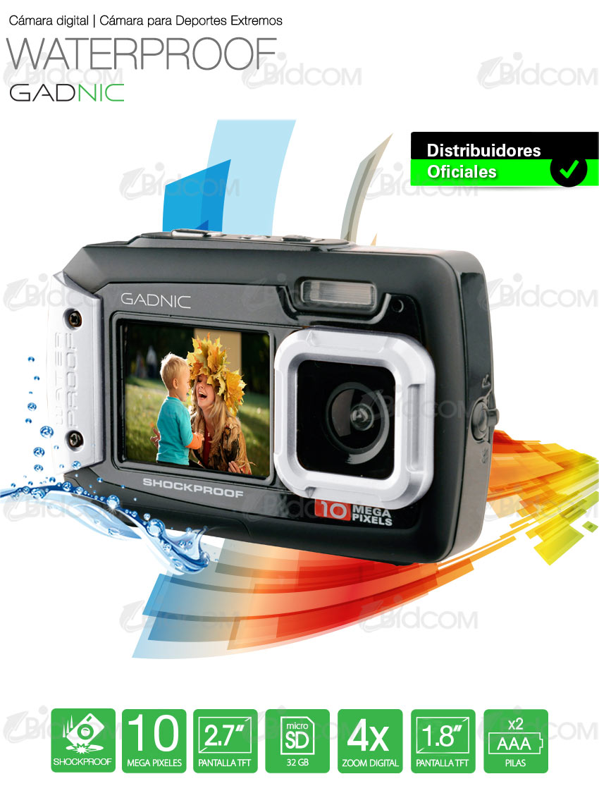 Cámara Gadnic Waterproof / Shockproof 10 Mpx