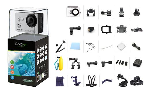 Kit | Cámara Gadnic SC4 + 40 Accesorios | FULL HD 1080p | Waterproof | 12 Mpx se entrega con estos accesorios
