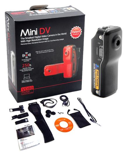 Mini Cámara Oculta MD80 se entrega con estos accesorios