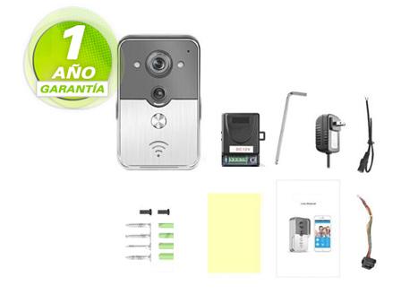 Videoportero con tecnología inalámbrica  IP | WIFI | P2P se entrega con estos accesorios