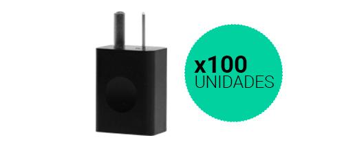 Cargador USB Homologados x 100 Unidades se entrega con estos accesorios