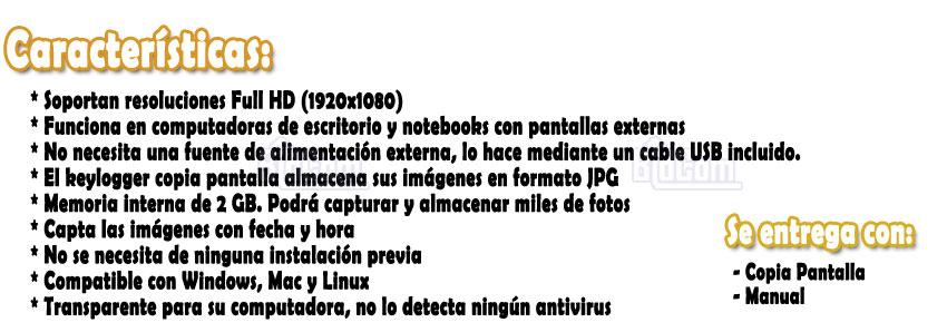 Keylogger Copia Pantalla HDMI