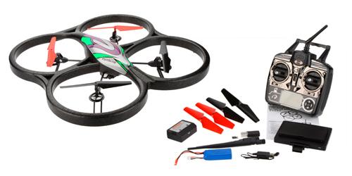 Drone WLtoys V666 FPV Space Trek se entrega con estos accesorios