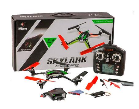 Cuadricóptero WLtoys con Cámara 720P SkyLark V636 se entrega con estos accesorios