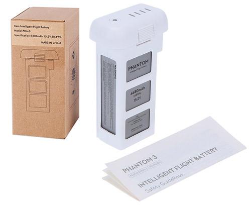 Batería Phantom 3 DJI 4480 mAh se entrega con estos accesorios