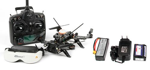 Drone de Carrera Walkera F250 + Anteojos Realidad Virtual Goggle 2 se entrega con estos accesorios
