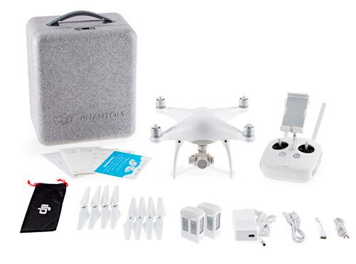 Drone DJI Phantom 4 + 2 Baterias Extras se entrega con estos accesorios