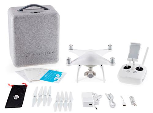 Drone DJI Phantom 4 se entrega con estos accesorios