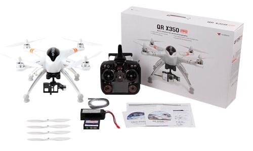 Drone Walkera QR X350 PRO con soporte de cámara GIMBAL 2D se entrega con estos accesorios