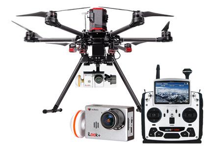 Drone Walkera X900 Para Uso Profesional Con Cámara se entrega con estos accesorios