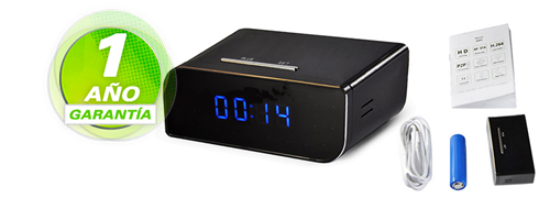 Reloj Espia Miniature HD | P2P | IP | WIFI se entrega con estos accesorios