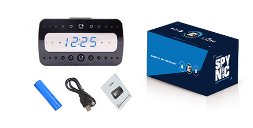 Reloj de Mesa con Cámara Oculta | Wifi | Full HD 1080p se entrega con estos accesorios