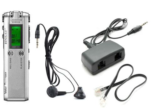 """Grabador de Audio """"Dual Microphone"""" se entrega con estos accesorios"""