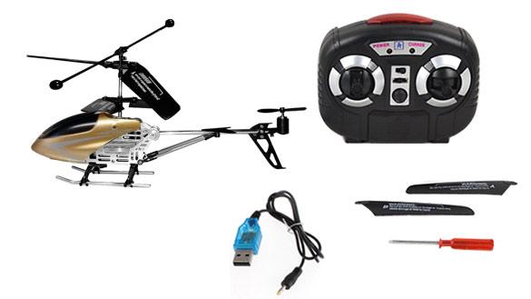 Helicóptero RC X-Zero se entrega con estos accesorios