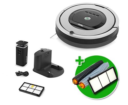 Robot Irobot Aspiradora Roomba 860 + Kit de Repuestos se entrega con estos accesorios