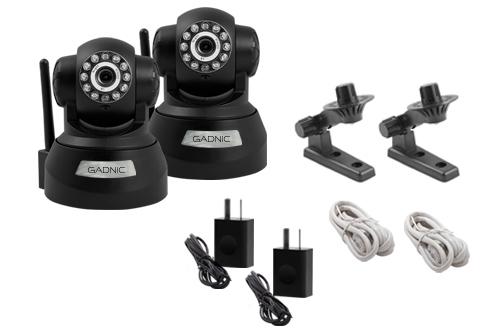 Kit Cámaras Seguridad | 2 Interior Domo Motorizado P2P|IP|Wifi se entrega con estos accesorios