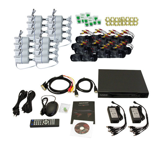 Kit de Seguridad P2P IP | 16 Cámaras + DVR + Disco 1TB se entrega con estos accesorios