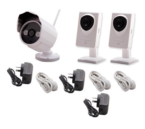 Kit Cámara Seguridad para el Hogar P2P   IP   Wifi se entrega con estos accesorios