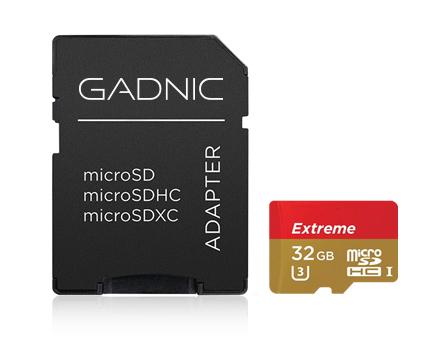 Memoria Micro SD GADNIC 32 GB Extreme + Adaptador se entrega con estos accesorios