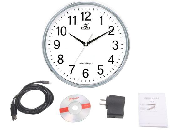 Reloj de Pared Espía P2P | IP | WIFI se entrega con estos accesorios