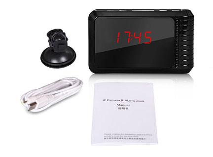 Reloj de Mesa HD   P2P   IP   WIFI se entrega con estos accesorios