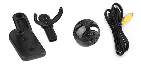 Mini Cámara Oculta Point Cam se entrega con estos accesorios