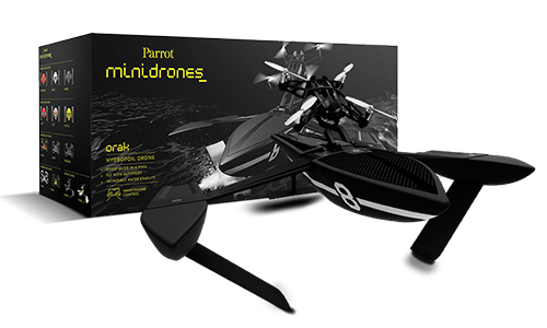 MiniDrone Hydrofoil Parrot se entrega con estos accesorios