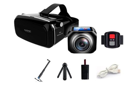 Camara Gadnic 360° Bubble + Virtual Box se entrega con estos accesorios