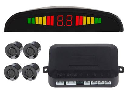 Sensor de estacionamiento con Display y Sonido se entrega con estos accesorios