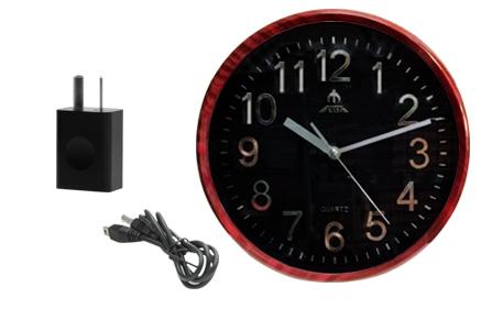 Reloj De Pared Espia SpyMate P2P   WIFI   IP se entrega con estos accesorios