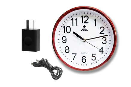 Reloj De Pared Espia SpyMate se entrega con estos accesorios