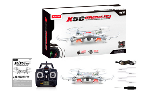 Drone Syma con Camara Explorers X5C se entrega con estos accesorios