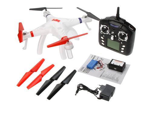 Cuadricóptero Galaxy V353 WLToys se entrega con estos accesorios