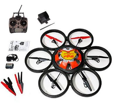 Hexacóptero Drone WLToys FPV Giant SkyWalker se entrega con estos accesorios