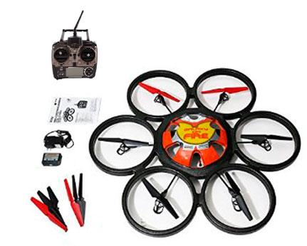 Hexacóptero Drone WLToys Giant SkyWalker Con Cámara 720P se entrega con estos accesorios