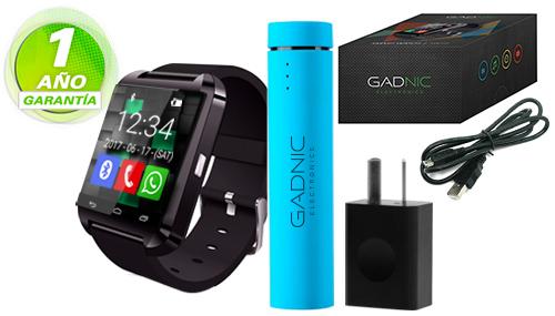 Kit Smartwatch GADNIC SW15+Banco de carga+Cargador Gadnic se entrega con estos accesorios