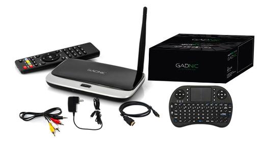 KIT TV BOX GADNIC| TX-200 Quadcore 8GB + Teclado inalámbrico se entrega con estos accesorios