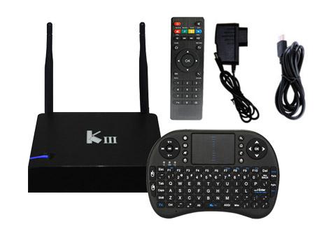 KIT TV BOX Android   KIII  4k   PentaCore   16GB + Teclado inalámbrico se entrega con estos accesorios