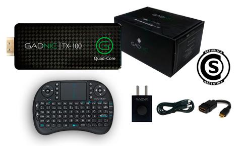 KIT Mini PC GADNIC | TX-100 8GB + Teclado inalámbrico se entrega con estos accesorios