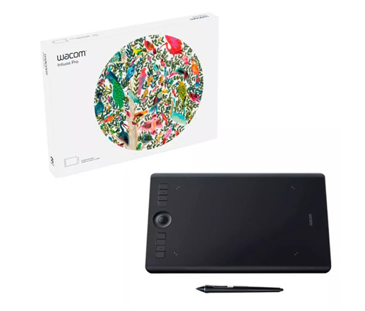 Tableta Gráfica Wacom Intuos Pro Medium se entrega con estos accesorios